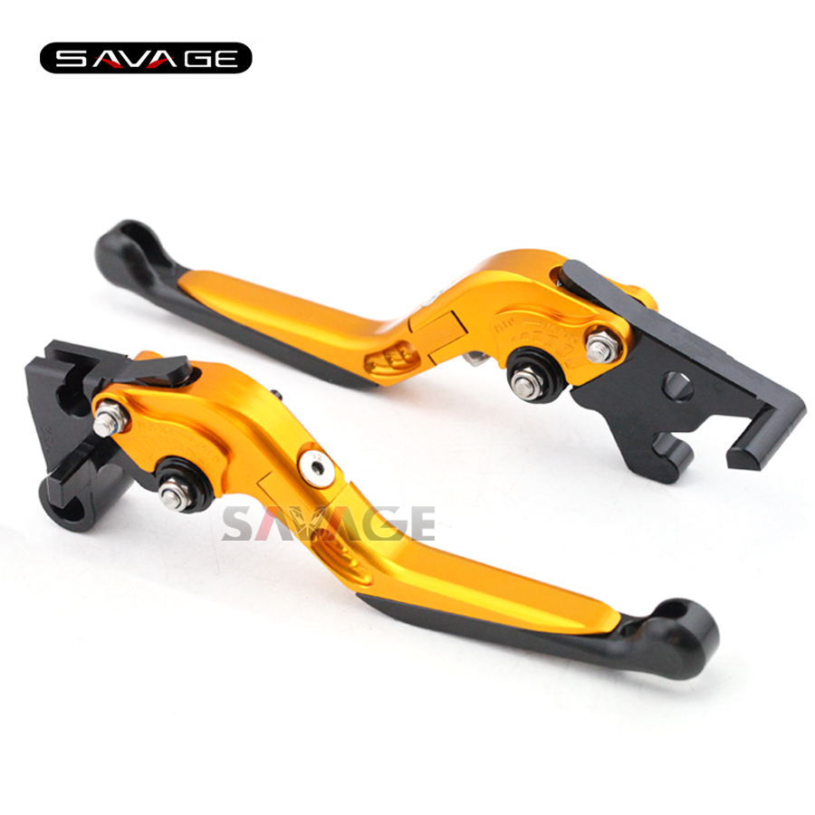 For YAMAHA YZF-R25 YZF-R3 MT-25 MT-03 2015-2016 Motorcycle Adjustable Folding Extendable Brake Clutch Levers Gold+Black 6 colors cnc adjustable motorcycle brake clutch levers for yamaha yzf r6 yzfr6 1999 2004 2005 2016 2017 logo yzf r6 lever