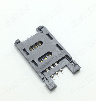 500pcs 6P SIM Socket Slot for Table PC Phone Clamshell Mobile Phone SIM Jacks Gold-Plating without Column
