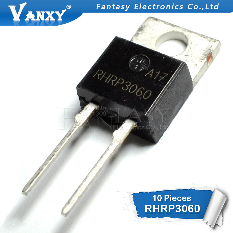 10PCS RHRP3060 TO220-2 Fast Recovery Rectifier Diode TO-220 600V 30A