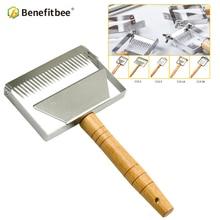 цены Benefitbee Brand Beekeeping Uncapping Fork Honey Knife Stainless Steel Honey Scraper Beekeeping Tools Beehive Tool Apicultura