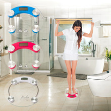 2017 Hot Sale 180kg Glass Digital LCD Electronic Glass Bathroom Weighing Scales Weight Loss Bath Health 330*330*40mm