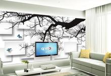 Custom any size photo Simple TV 3D TV background wall 3d murals wallpaper for living room