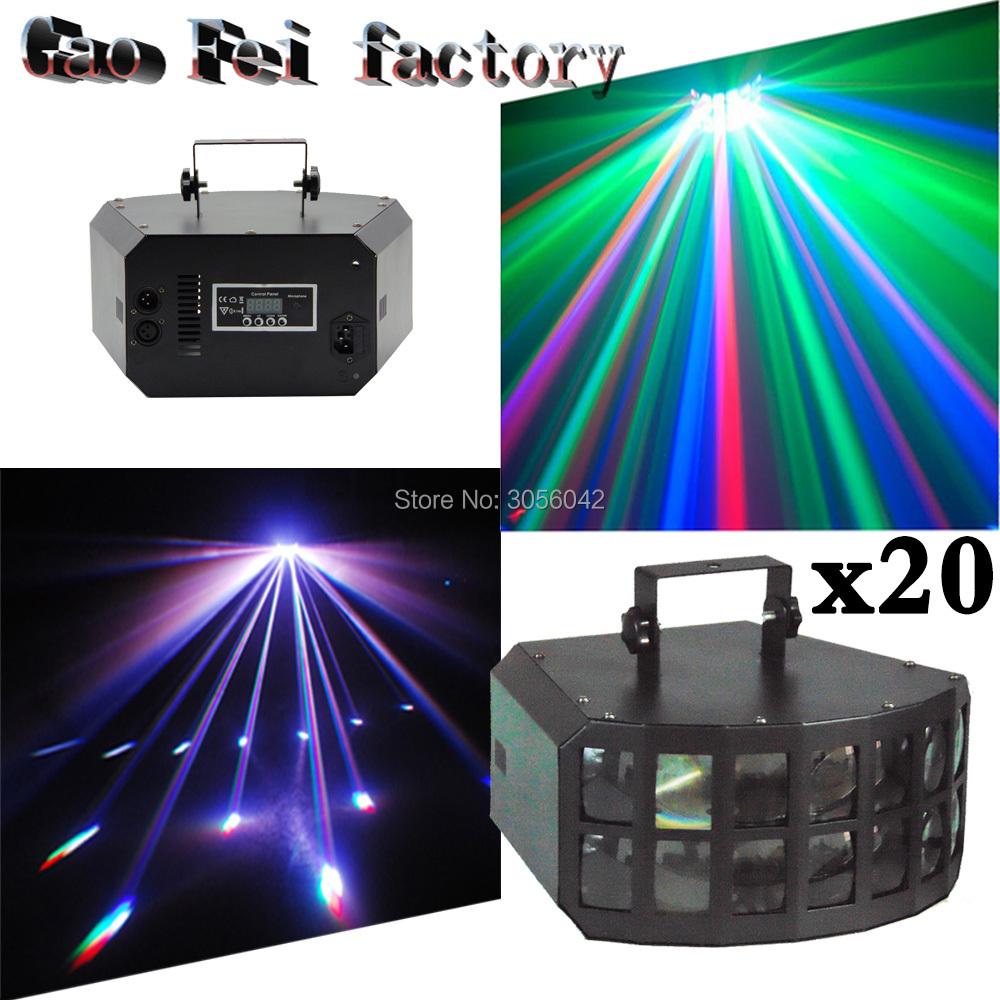 20pcs/lot Amazing 4IN1 2x12W Professional KTV Bar Club Party DMX LED RGBW Stage Light 20pcs lot ls30 to252