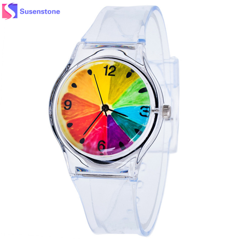 Kids Watches Lovely Cute Pure Color Silicone Rubber Strap Analog Quartz Watch Casual Children Boys Girls Students Watch Clock creative 2016 fashion mango watches children boys girls mango pattern dial yellow silicone starp lovely cute quartz watches