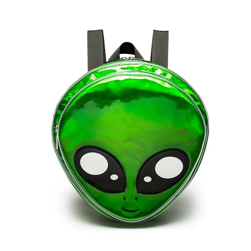 Cute Alien Backpack Green Laser Girls School Bag for Teenagers Women Backpack Harajuku Style Cartoon Animal