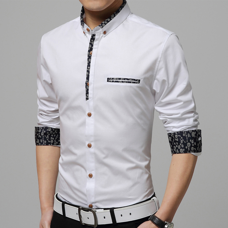97aade8ac4cc3 Free Shipping 2018 New Shirts men Casual Turn-down Collar Shirts For Men  Breathable Cotton Plus Size M-5XL