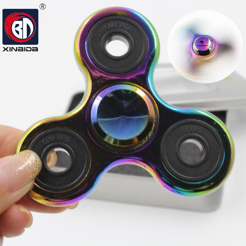 New Triangle Gyroscope Finger Spinner Fidget Metal EDC Hand For Autism/ADHD Rotation time Anxiety Stress Relief Focus Toys Gifts new luminous metal fidget spinner triangle gyro edc hand finger spinner for autism adhd anxiety stress relief focus toys gift