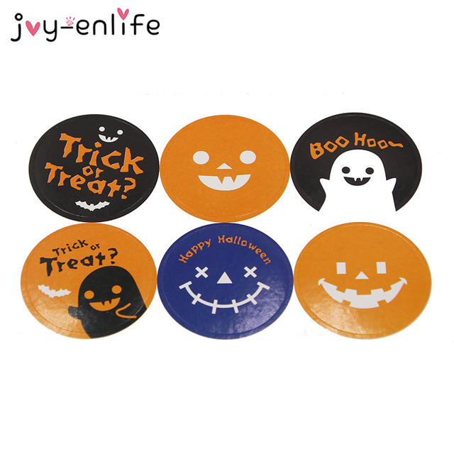 Joy enlife 60pcs halloween round funny sticker diy decor stickers gift wrapping sealing paster halloween