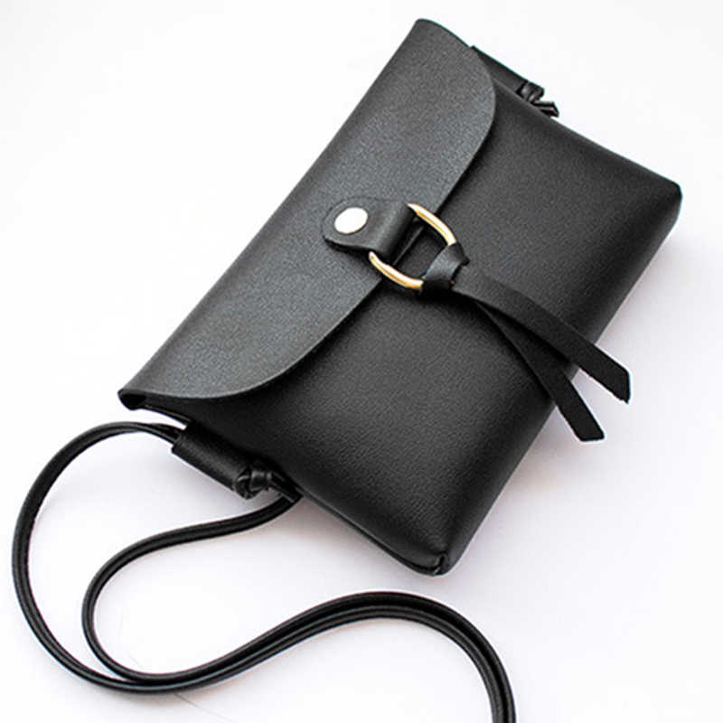 Hot Sale Female Small Tassel Handbag Purse Fashion Artificial Leather Mini Crossbody Bag for Ladies Solid Color Elegant Bags