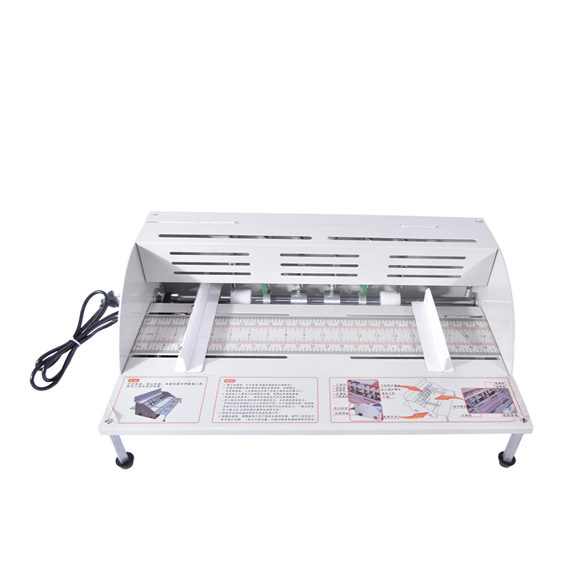 220V Electric paper creasing machine book cover creasing cutting and creasing machine 460MM Paper width