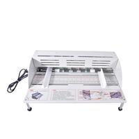 220 v elétrica papel vincando máquina livro capa vincando corte e vincando máquina 460mm largura de papel