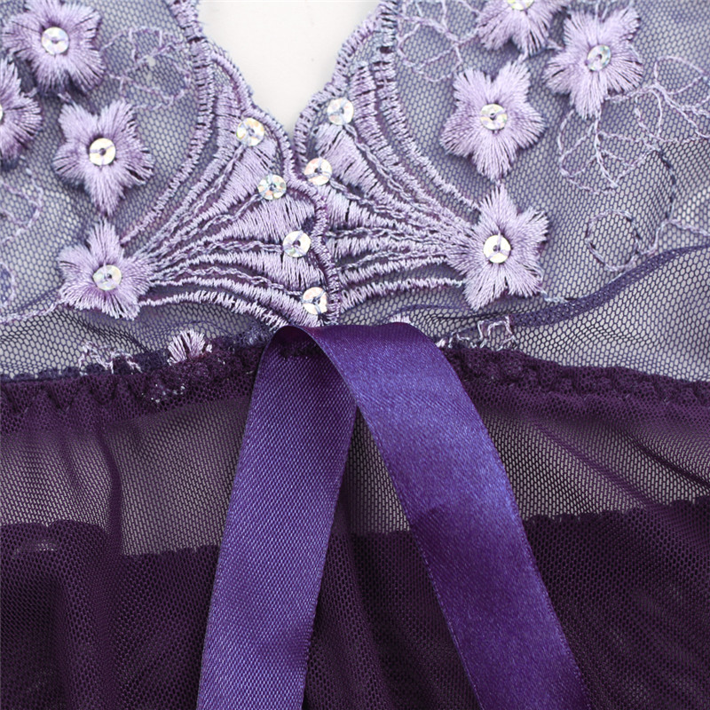 Hot DealsErotic Underwear Lingerie Babydolls Sheer Hot Sexy Plus-Size XXL 4XL Bra Gift Bow 5XL
