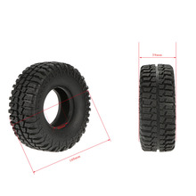 4Pcs Austar 1.9″ 100mm 1/10 Scale Tires for 1/10 RC4WD D90 Axial SCX10 RC Rock Crawler