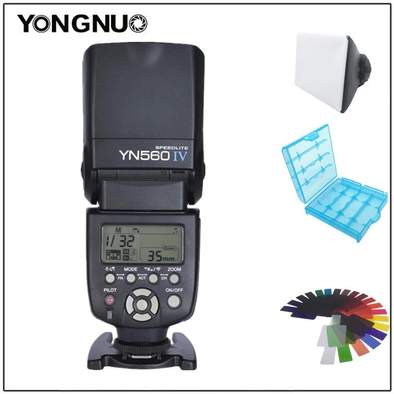 Yongnuo YN560IV YN560 IV YN 560 Flash Speedlite 1/200S - 1/20000S Sound Indicator For Canon Nikon Olympus Pentax Wireless yongnuo yn560iv yn560 iv yn 560 flash speedlite for canon nikon olympus pentax with yongnuo rf603 ii wireless flash trigger
