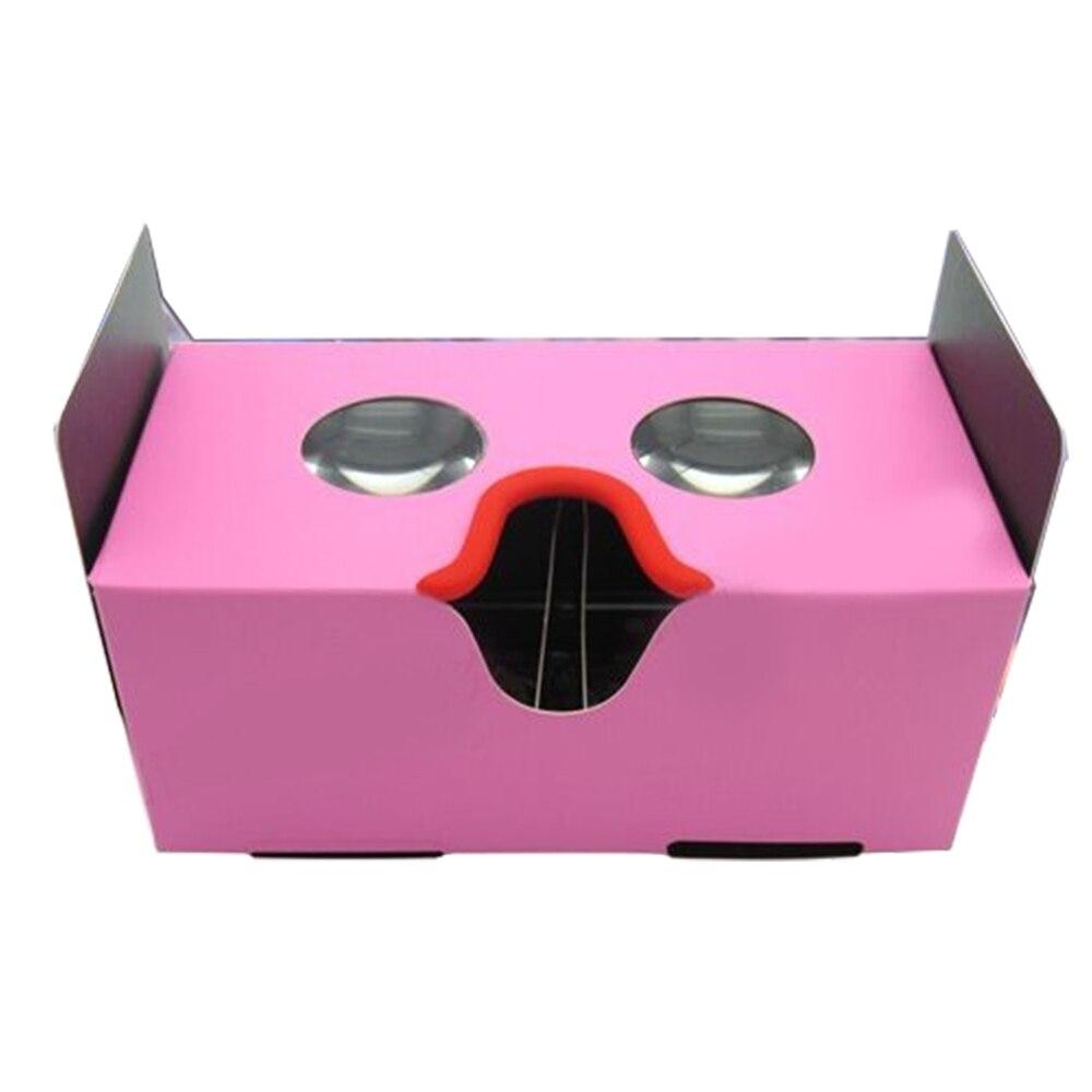 Newest High Quality DIY Google Cardboard 3D font b VR b font Box Reality Movie Games