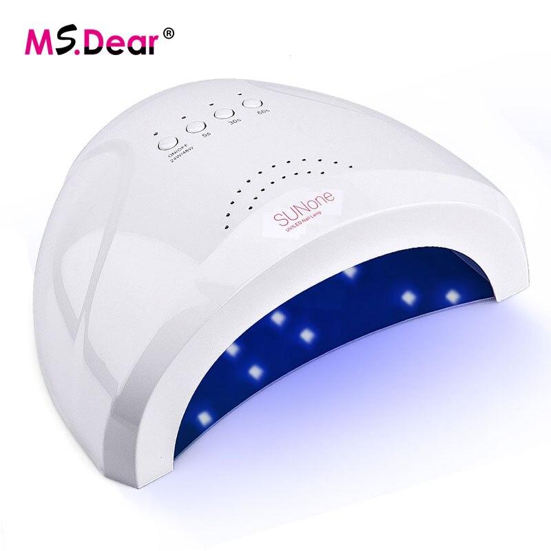 24/48 W lámpara UV para el esmalte de uñas secador de 30 LEDs Luz de secado uñas de Gel de uñas y curar las uñas herramientas de arte salón de manicura máquina