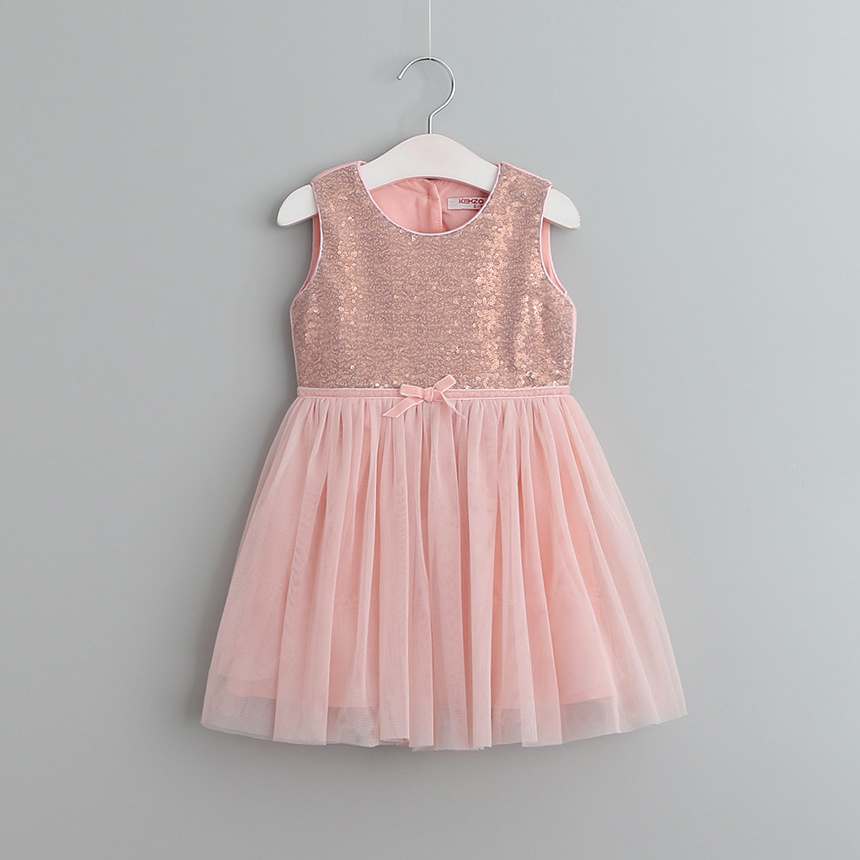 European And American Style Girls Dress Sequin Dresses For