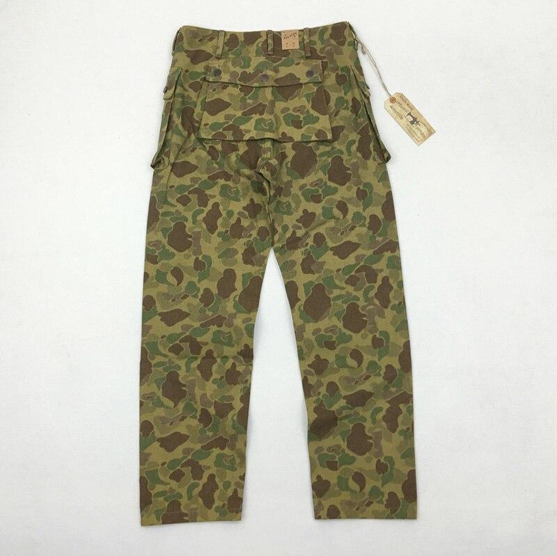 Bob dong replica p44 남성용 바지 13.7oz 데님 원단 미 육군 군사화물 바지 duck hunter camouflage army bottoms-에서카고팬츠부터 남성 의류 의  그룹 3
