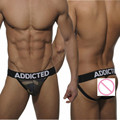 Free shipping high quality Cotton  tanga hombre brand gay men underwear Sexy Camouflage Jockstraps  men G-strings&Thongs
