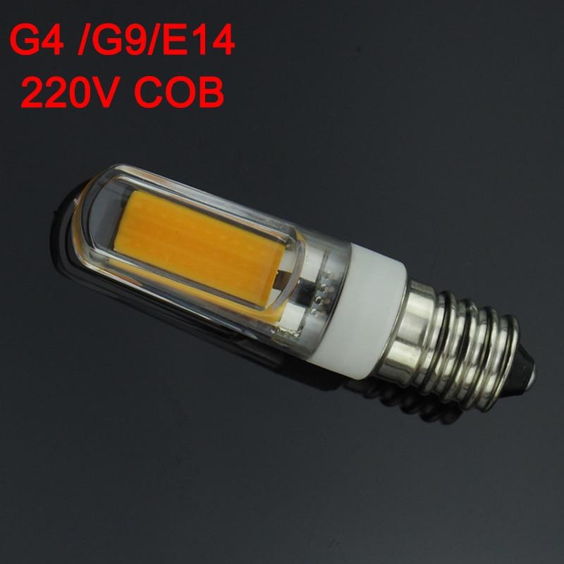 G9 G4 E14 LED 220V 3W Dimmable LED Lamp 2609 SMD COB Spotlight Bulb Lamp Light 360 Beam Angle Chandelier Lights Replace Halogen