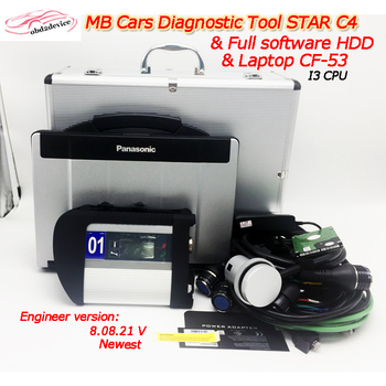 Auto Scanner MB Star C4 SD connect V09.2019 newest software installed in CF53 PC i3 CPU quick work MB C4 SD Auto Diagnostic Tool