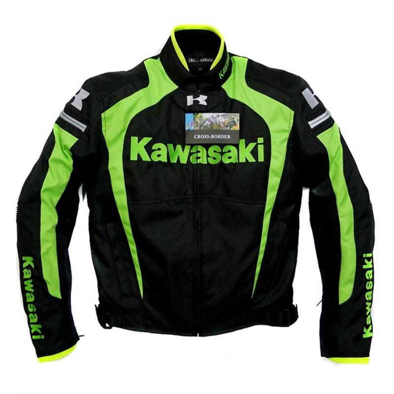 New Men s Spring Autumn Professional Moto jackets Team Green Motorcycle Jacket For kawasaki Moto GP