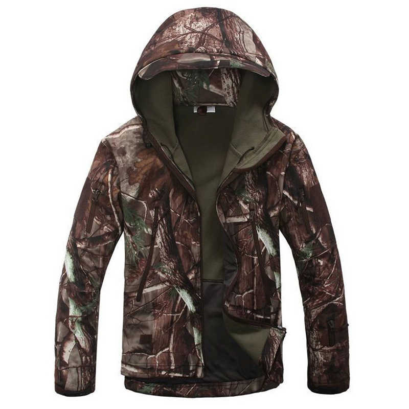 New 2018 Military Tactical jacket Men Plus Size 3XL Waterproof Soft Shell Snake Camouflage Jacket Men Tactical Army Jackets Mens