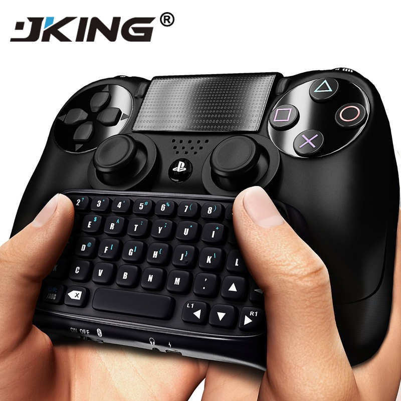 JKING For Sony PS4 PlayStation 4 Accessory Controller Mini Bluetooth Wireless Keyboard Does not include PS4