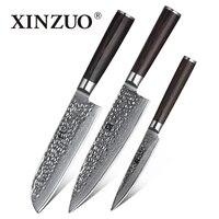 XINZUO 3 шт Кухня Набор ножей Дамаск Сталь Кухня Ножи Нержавеющаясталь шеф повара Японии Santoku для очистки овощей Ножи Кухня готовить инструмен