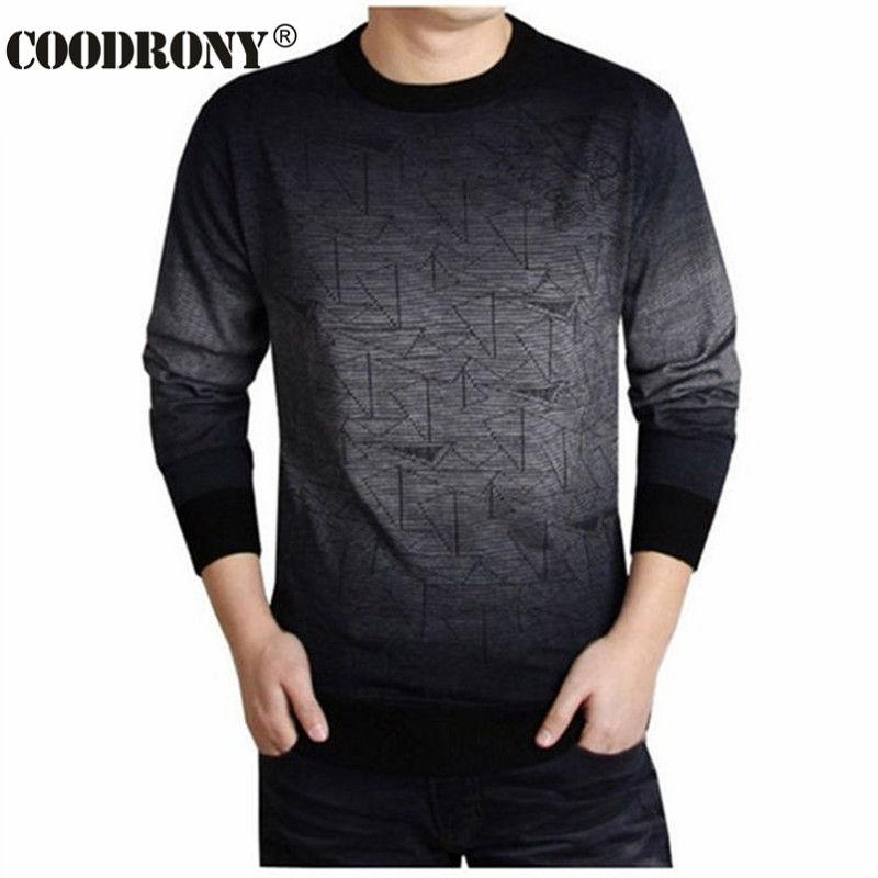 Coodrony кашемировый свитер Для мужчин брендовая одежда Для мужчин S Свитеры для женщин печати повесить PYE Повседневная рубашка шерстяной пуловер Для мужчин тянуть Платье с круглым вырезом t 613
