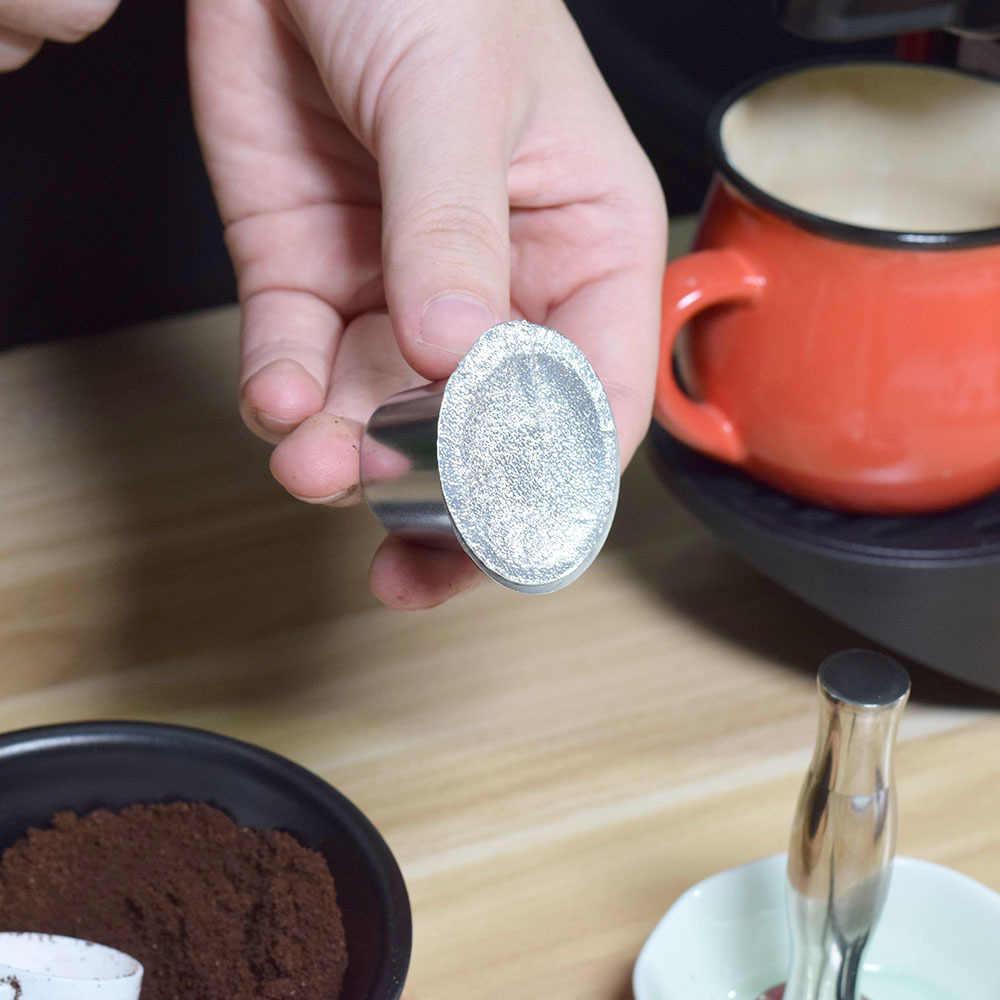 240 PC многоразовая кофейная капсула Nespresso Flim стикер заправка капсула из нержавеющей стали самоклеящийся алюминиевый фольги крышка пивоварения