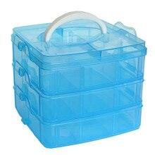 18 сеток Регулируемый Чехол для хранения коробка держатель контейнер 3 слоя ювелирных изделий бисер счета Органайзер держатель конфет цвета# B30