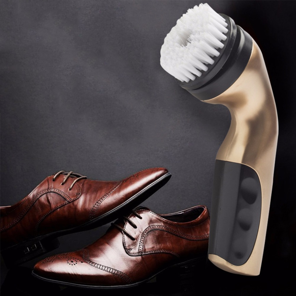 SKYMEN 1Set Portable Lightweight Handheld Rechargeable Automatic Electric Shoe Brush Shine Polisher