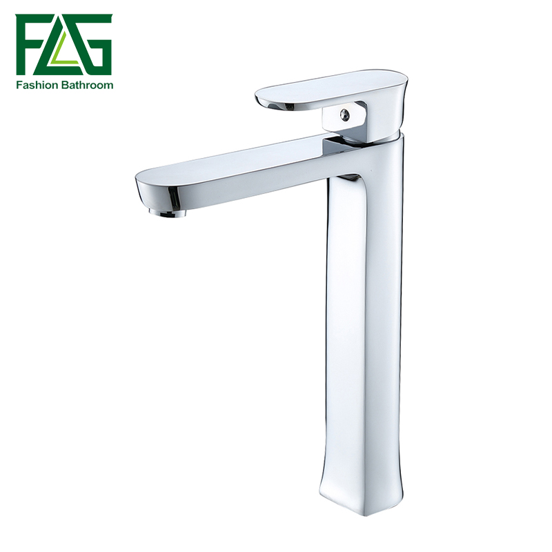 FLG Brass Basin Faucet Hot and Cold Water Single hole Single handle Sink Bathroom Mixer Tap hpb square brass basin faucet hot and cold water single hole handle sink bathroom faucets mixer tap grifos para lavabos hp3037