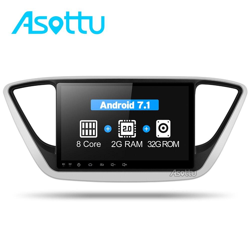 Asottu C17YN9060 Car DVD GPS Player For new Hyundai Verna 2017 Car PC Headunit Car Radio Video Player Navigation 2 din gps dvd