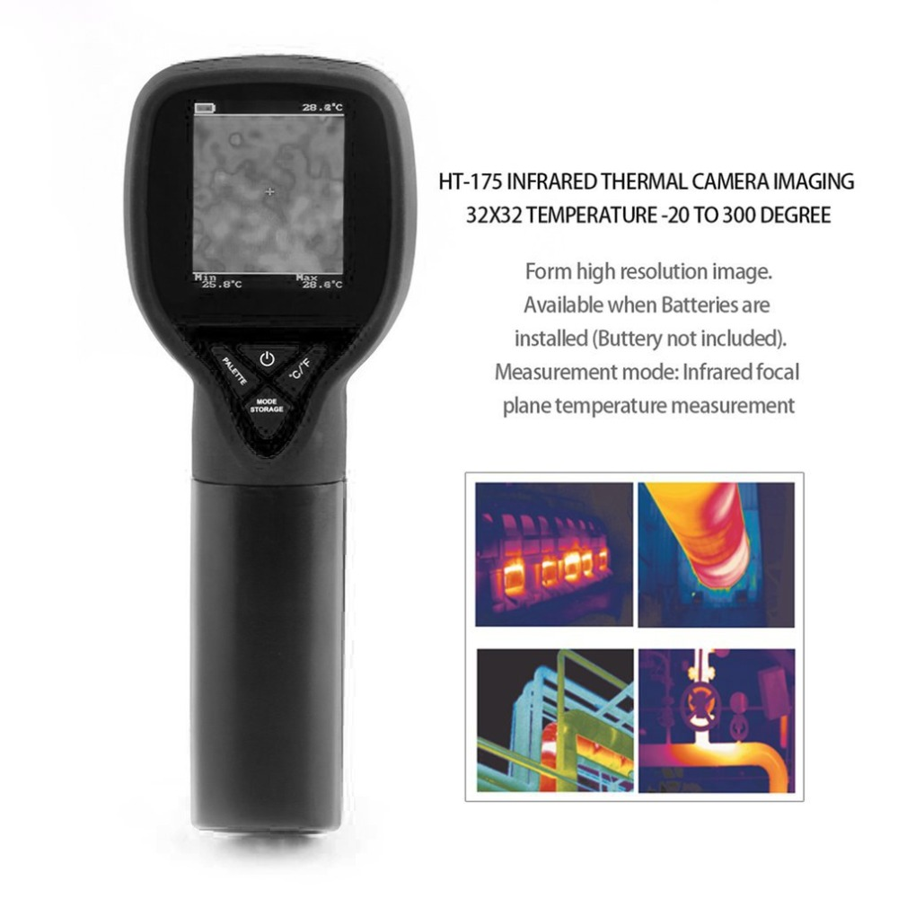 HT-175 Hand-held Digital Infrared Thermal Camera Thermal Imaging Resolution 32X32 Infrared Thermometer -20 to 300 DegreeHT-175 Hand-held Digital Infrared Thermal Camera Thermal Imaging Resolution 32X32 Infrared Thermometer -20 to 300 Degree