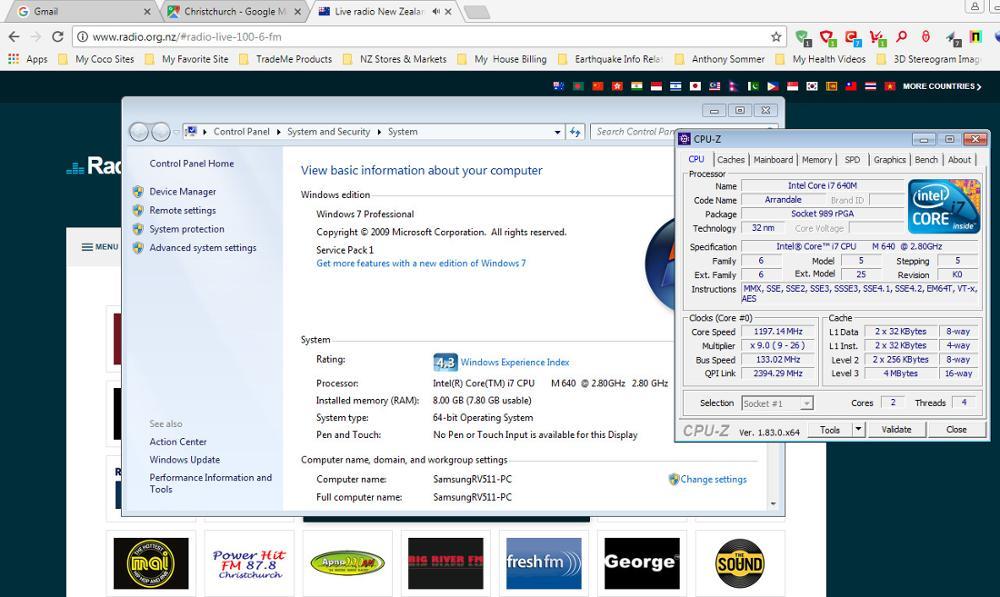 Intel core I7 640m SLBTN Dual Core 2 8GHz L3 4M CPU Processor works on HM55  I7-640m