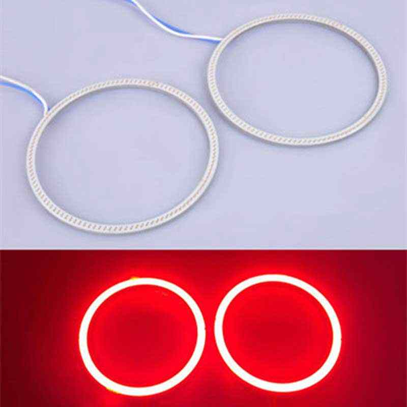 Hoping Car angel eyes led COB 130MM 140MM RED Halo ring headling tail light DRL