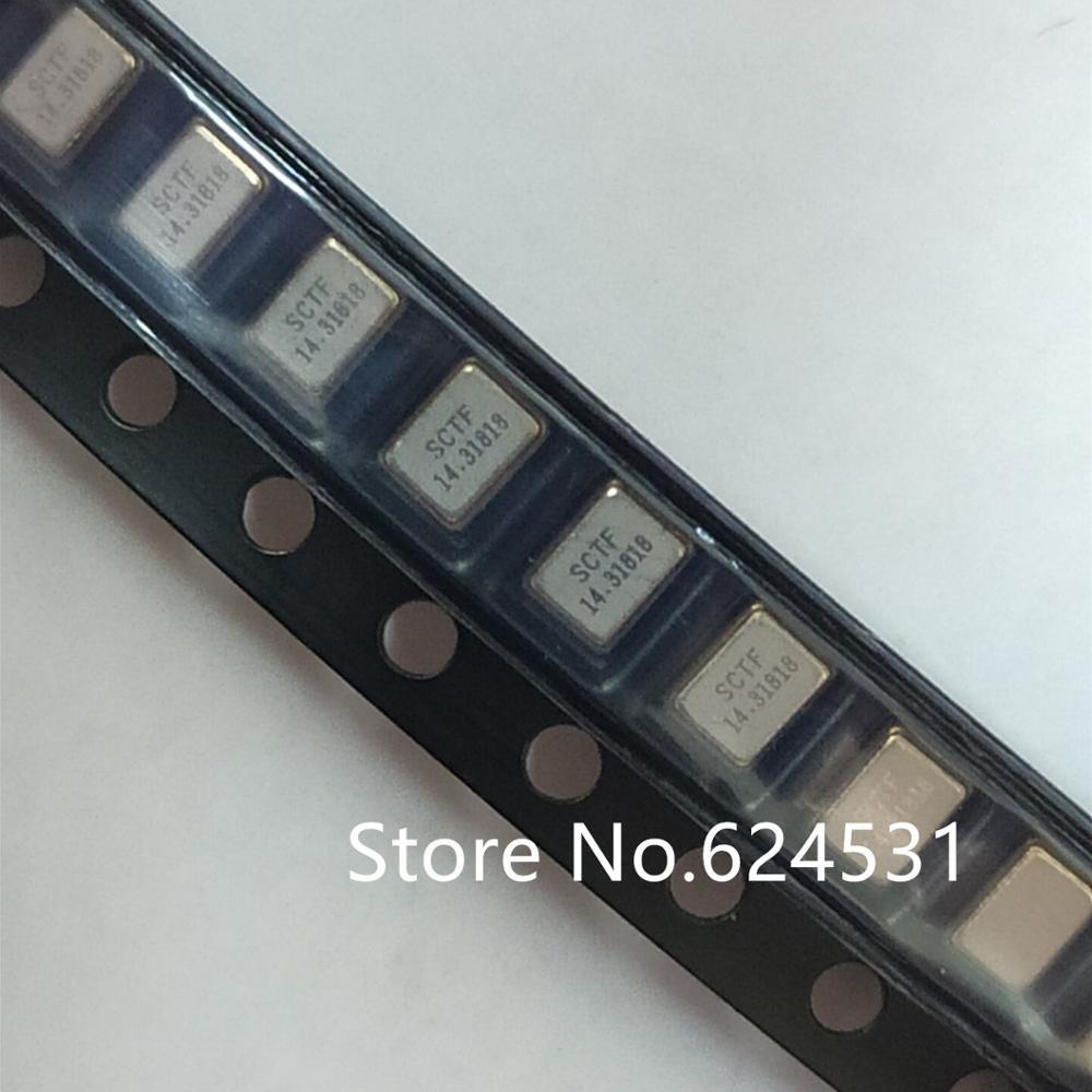 10pcs Passive Patch Crystal 3225 3.2*2.5mm 4 Feet 14.31818MHZ 20PPM Resonator