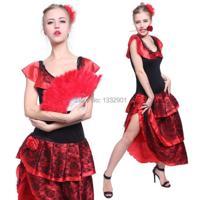 d25566a05b45 SPANISH SENORITA RUMBA SALSA FLAMENCO DANCE MEXICAN LATIN FANCY DRESS  COSTUME