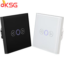 KSG,EU Standard LED Light Dimmer Switch,White Tempered Crystal Glass Touch Wall Switch 110-240V,1 Gang 1 Way Dimmer Wall Switch(Hong Kong,China)