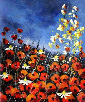 Beautiful Landscape Paintings Red Poppies 451140 Pol Ledent Red Flower Oil Painting for Living Room Wall Pictures No Frame