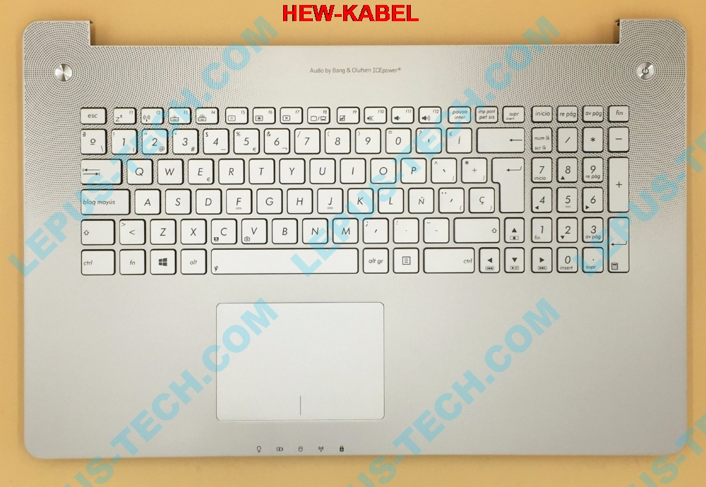 SP LA Keyboard for ASUS N750 N750JK N750JV with backlight top case palmrest Spanish layout