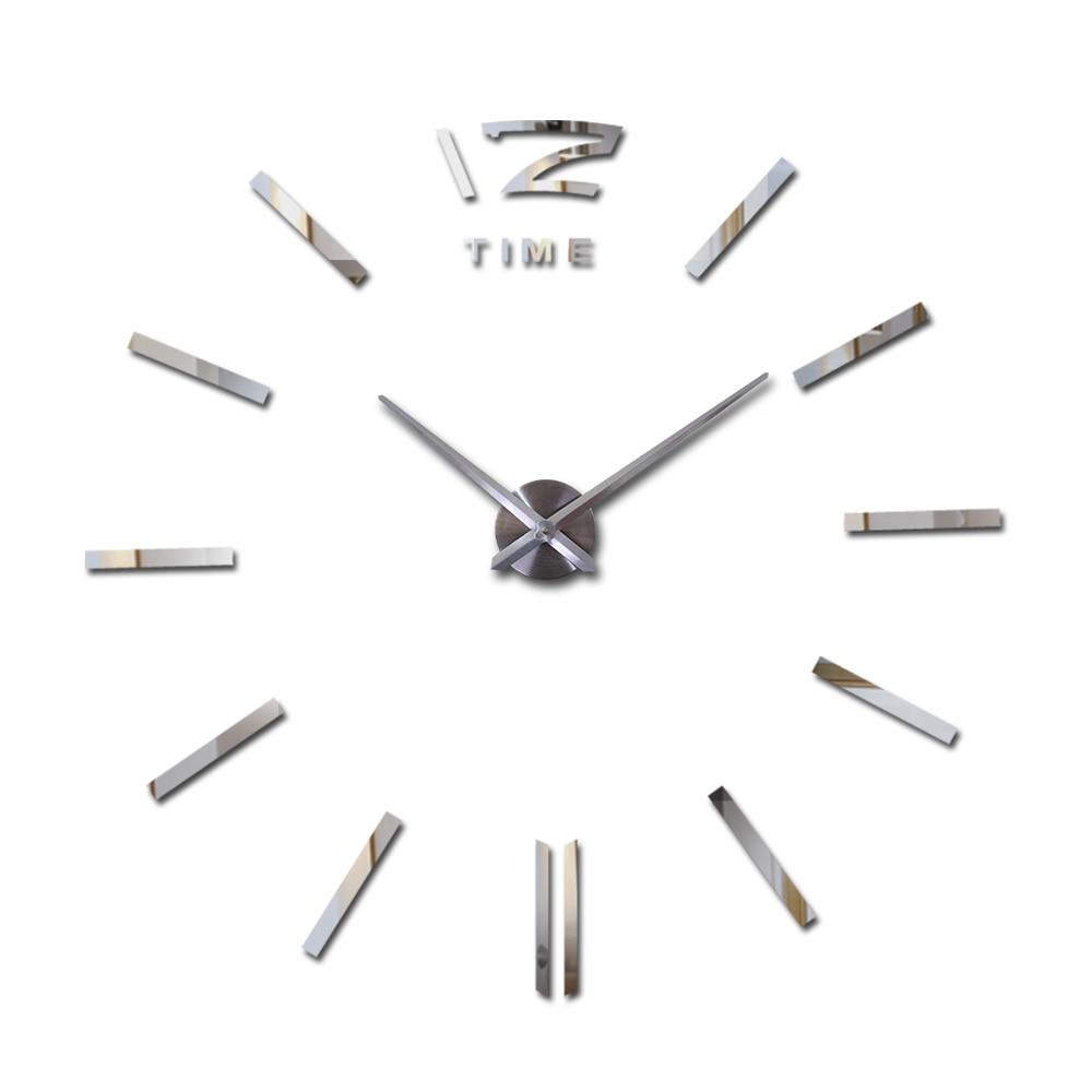 Nowa gorąca sprzedaż zegarek zegarowy naklejki ścienne zegary dekoracji nowoczesnego stylu kwarcowy diy 3d akrylowe lustro metalowe do salonu