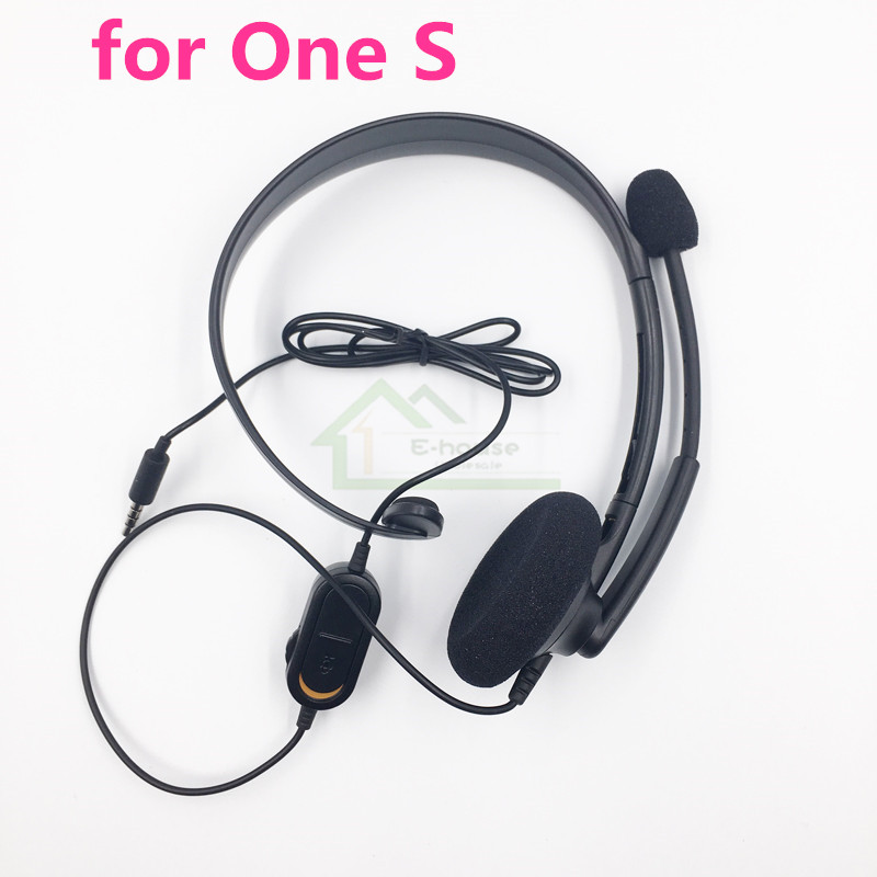 E-house Original Black Wired Chat Chatting Headset Headphone Earphone with Mic for Xbox One S for Xbox One Slim