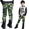Camouflage pants New 2016 Children Boys Casual Fashion Camouflage Pocket Pants For Spring Autumn Trousers free shipping