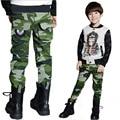 Camuflagem calças Novo 2016 Crianças Meninos Moda Casual Camuflagem Calças Bolso da Calça Para A Primavera Outono frete grátis
