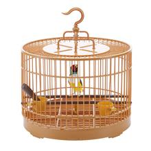 Bird Cage Feeding Surrounded By Ventilation Retro Round Outdoor Travel Carrier Ostrich Hanging House Portable