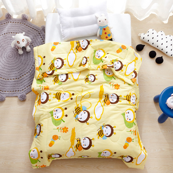 Cartoon Bees Quilted Bedding Quilt Comforter Washable Children Single Quilt Single Blanket Airconditioner Summer Cotton Quilt