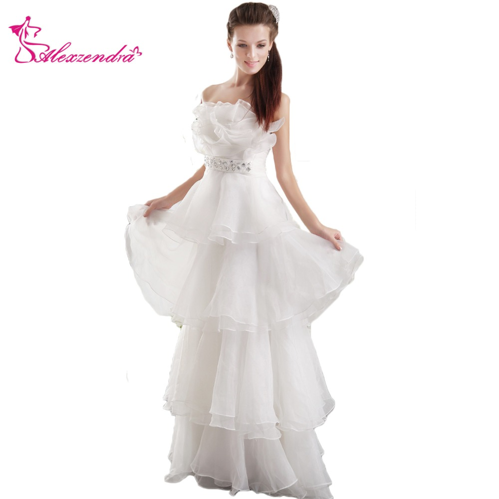 Wedding Gown Warehouse: Aliexpress.com : Buy Alexzendra White Organza Ruffles